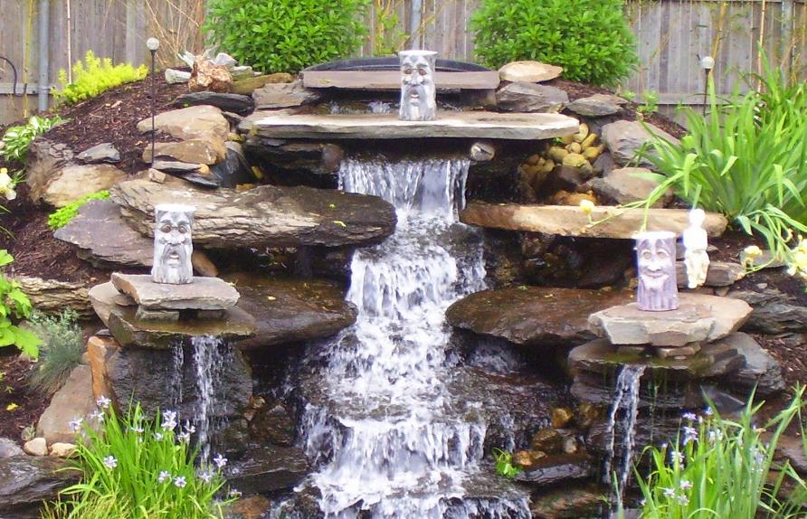 Как построить водопад своими руками на даче