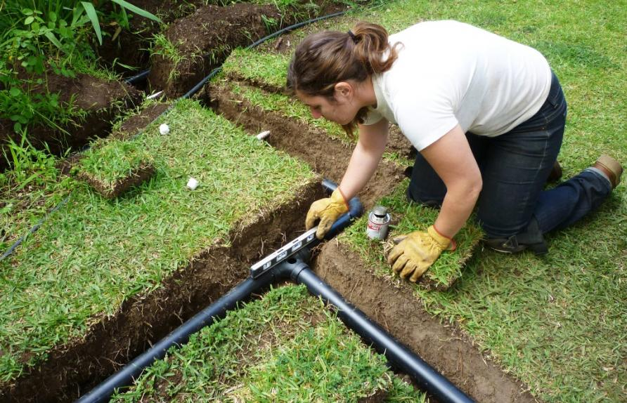 капельный полив для газонной травы